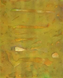 Untitled 156 by Mahesh Jagtap, Painting, Watercolor on Paper, Green color