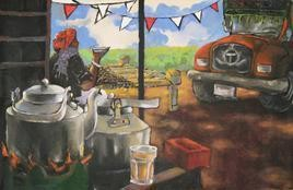 Dhaba Chai by Anjum Siddiqui, , , Brown color