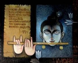 Namaskaram by Arun Kumar Samadder, , , Brown color