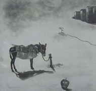 Untitled by Dushyant Patel, Printmaking, Etching on Paper, Gray color