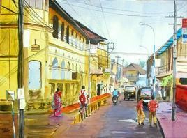 After Rains by Ramesh Jhawar, , , Beige color