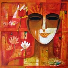 Untitled by Chaitali Mukherjee, , , Red color
