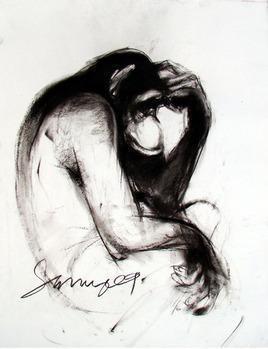 Thinker IX by Sumantra Mukherjee, , , Gray color