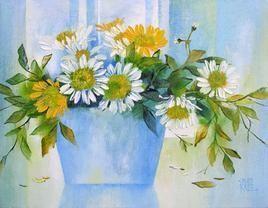 My Flowers - 24 by Swati Kale, , , Cyan color