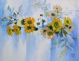 My Flowers- 23 by Swati Kale, , , Cyan color