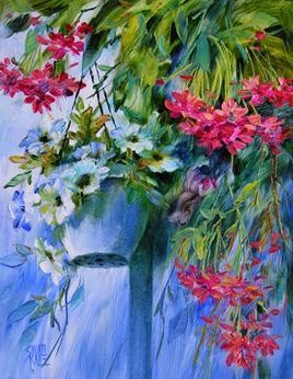Hanging Flowers - 7 by Swati Kale, , , Green color