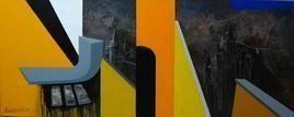 And III by Krishnendu Porel, Geometrical, Geometrical Painting, Acrylic on Canvas, Green color