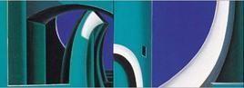 Side Effect by Krishnendu Porel, Geometrical, Geometrical Painting, Oil on Canvas, Blue color