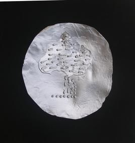 Moon On Rain Tree by Badrinath Barfa, Conceptual, Conceptual Sculpture | 3D, Metal, Black color