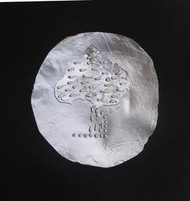 Moon On Rain Tree by Badrinath Barfa, Conceptual, Conceptual Sculpture | 3D, Metal, Black color