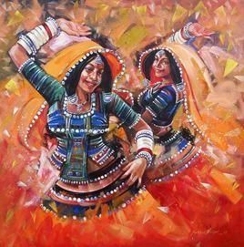 Dance-5 by Shekhar Ballari, , , Brown color