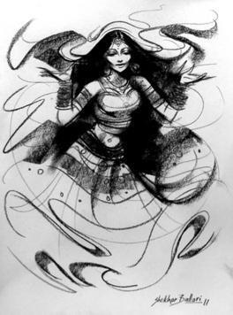 Dance-1 by Shekhar Ballari, , , Gray color