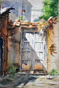 Darwaza by Sumantra Mukherjee, , , Brown color