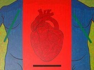 Object Of Desire - Heart by Rajan Fulari, Conceptual, Conceptual Painting, Acrylic on Canvas, Red color