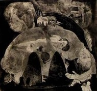 Lost Dreams by V Nagdas, Illustration Printmaking, Etching on Paper, Brown color