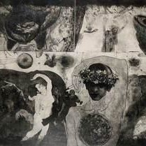 Memories by V Nagdas, Illustration Printmaking, Etching on Paper, Gray color
