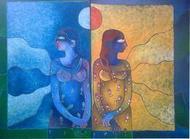 Reflection by Sunita Dinda, , , Blue color