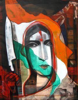 Revolution by Deepankar Majumdar, Decorative, Decorative Painting, Acrylic on Canvas, Brown color
