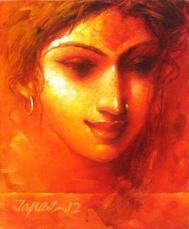 Face - 1 by Tapas Sardar, , , Orange color