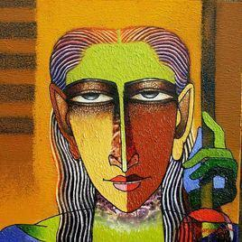 Violin Seller - 22 by Dayanand Kamakar, , , Brown color