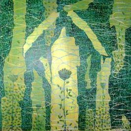 Protection Plus by Prashant Mahangare, Decorative, Decorative Painting, Mixed Media on Paper, Green color