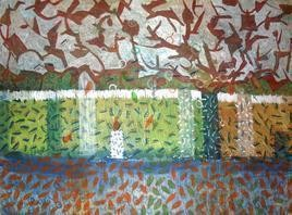 Waiting For Monsoon by Prashant Mahangare, Decorative, Decorative Painting, Acrylic on Paper, Brown color