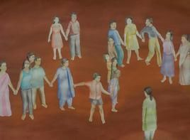 Journey 3 by Smita Shinde, Painting, Gouache on Paper, Brown color
