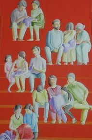 Interrupt In Habitual by Smita Shinde, Painting, Gouache on Paper, Brown color