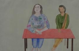 Disclosuer by Smita Shinde, Painting, Gouache on Paper, Gray color
