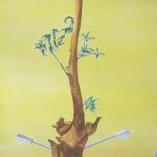 Untitled 29 by Sachin Shinde, Painting, Gouache on Paper, Beige color