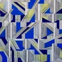 Space - IV by S K Sahni, Geometrical, Geometrical Painting, Acrylic on Canvas, Blue color