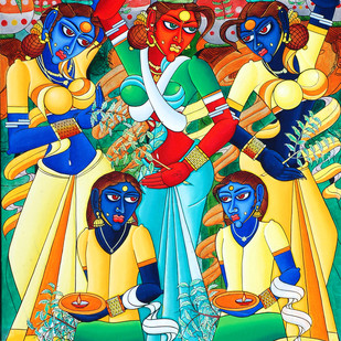 Bonalu Digital Print by M D Rustum,