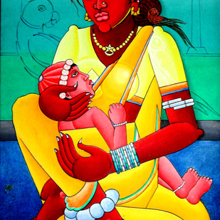 Indian Art Digital Print by M D Rustum,