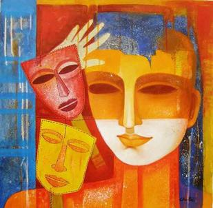 Nautanki XV by Chaitali Mukherjee, , , Orange color