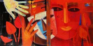 Nautanki XVI by Chaitali Mukherjee, , , Red color