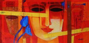 Nautanki XVII by Chaitali Mukherjee, , , Red color
