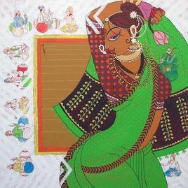 Apsara-1 by Varsha Kharatmal, , , Green color
