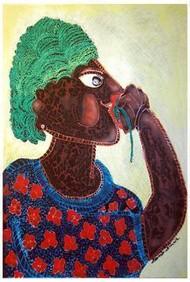 Hingorani by Sambuddha Duttagupta, Painting, Mixed Media on Paper, Brown color