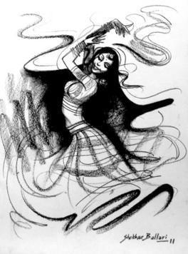 Dance-2 by Shekhar Ballari, , , Gray color