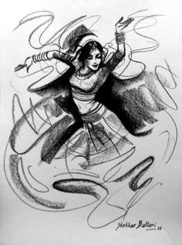 Dance-3 by Shekhar Ballari, , , Gray color