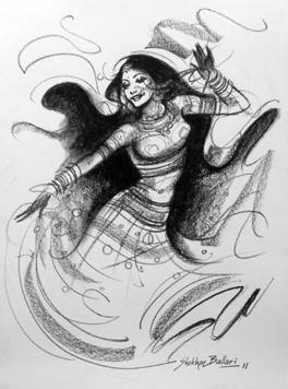 Dance-4 by Shekhar Ballari, , , Gray color