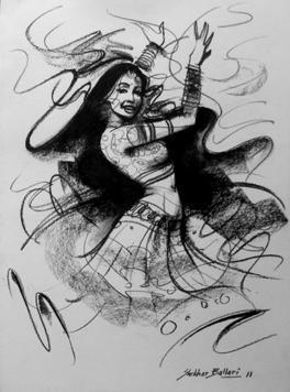 Dance-5 by Shekhar Ballari, , , Gray color