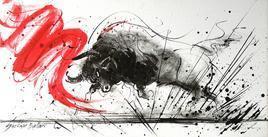 Bull-6 by Shekhar Ballari, , , Gray color