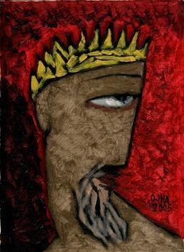 Untitled by Ratnakar Ojha, , , Brown color