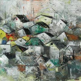 Modern Village by M Singh, , , Gray color