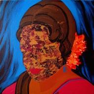 Face - 5 by Puja Sarkar, Expressionism, Expressionism Painting, Acrylic on Canvas, Brown color