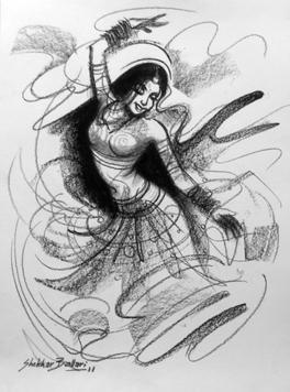 Dance by Shekhar Ballari, , , Gray color
