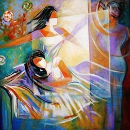 She - Her Dreams by Ella Prakash, , , Brown color