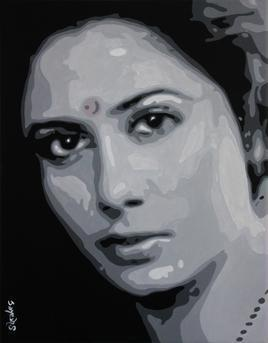 Smitha Patil by Jayesh Sachdev, , , Gray color