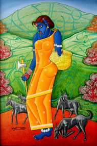 Tribal Lady Digital Print by M D Rustum,